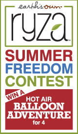 Ryza<br /> Summer Freedom Contest</p> <p>Win a Hot Air Balloon Adventure for 4!