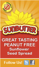 SunButter  GREAT TASTING PEANUT FREE Sunflower  Seed Spread  Follow us on Twitter + Facebook!