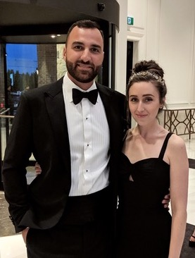 Brandon and Amanda at a friend's wedding in October 2019.