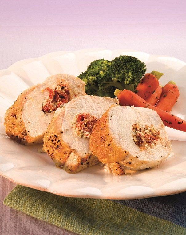 Baby Spinach Stuffed Chicken Breasts