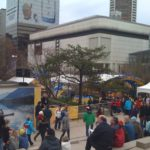 Robson Square during the Olympics