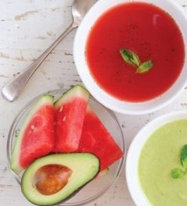 Watermelon and Avocado Soups