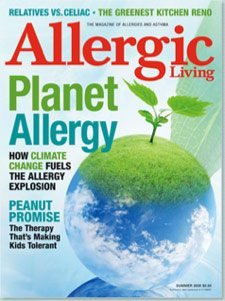 Allergic Living Summer 2009 Cover