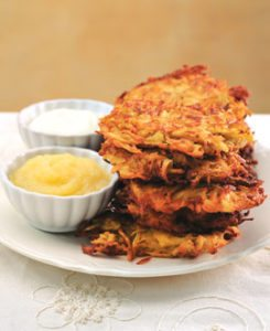 recipe potato-parsnip-pear-latkes