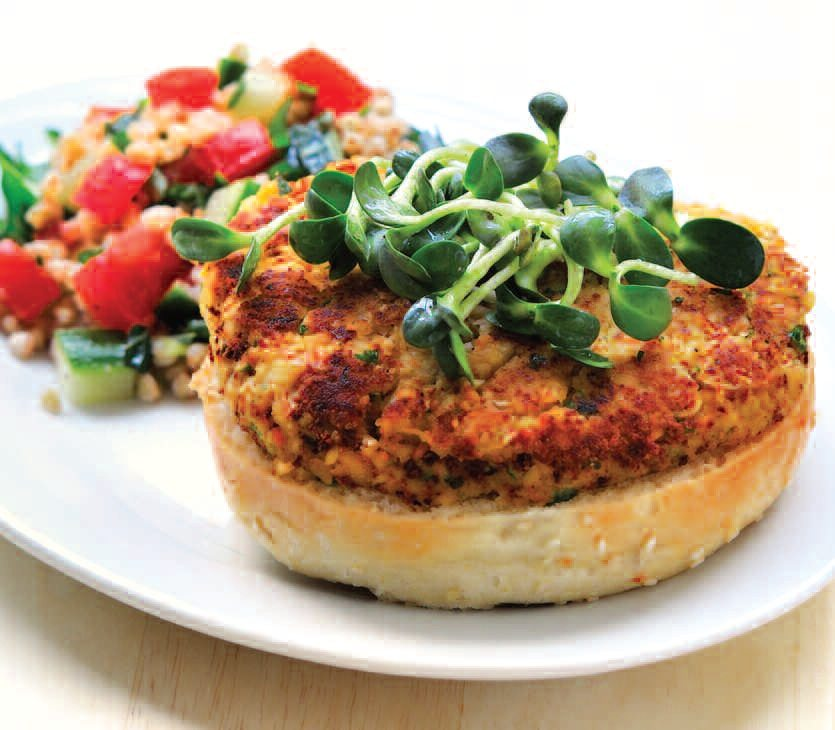 Tabbouleh Burger Recipe — Dishmaps