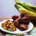 Grilled Chicken with BBQ Sauce & Fresh Corn Succotash