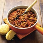 Three-Bean Chili with Cornbread