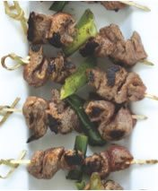 Beef and Green Onion Skewers