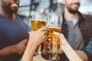 group drinking alcohol