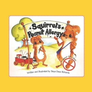 Squirrels Peanut allergy book cover