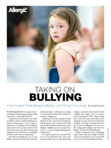 Taking on Food Allergy Bullying Handout