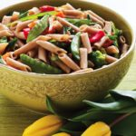 Spring Vegetables Pancetta Quinoa Penne crop