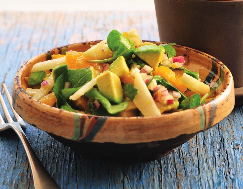 Arugula Avocado And Jicama Salad With Citrus Salsa