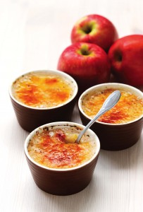 Apple Rice Pudding Brulee