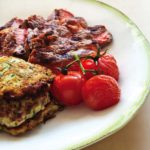 Grilled Ribeye Zucchini Fritters-Vine Tomatoes crop