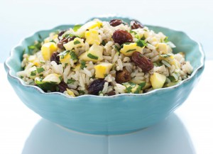 Brown Rice Pilaf with Acorn Squash Raisin