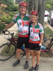 AAFA Cary and Sara Sennett tandem cycling