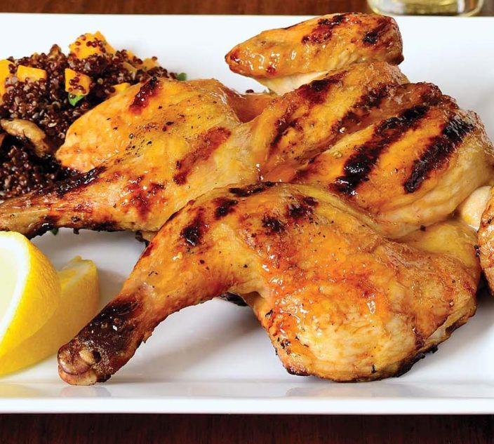 Cornish Hen with Apricot Glaze