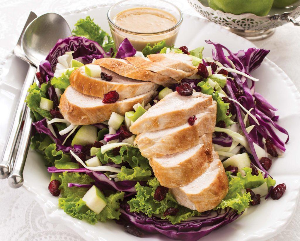 Cran-Apple Crunch Chicken Salad with Creamy Maple Dressing