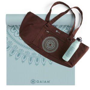 gaiam yoga mat and bag