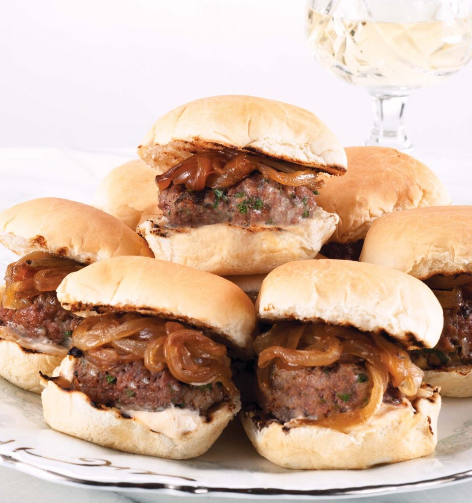 andouille blue cheese slider burgers andouille and beef burgers ...