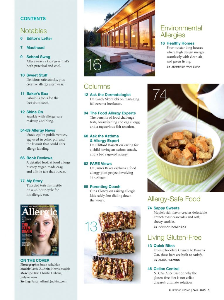 Fall 2015 U S Edition Allergic Living