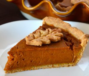 Allergic Living Pumpkin Pie slice crop