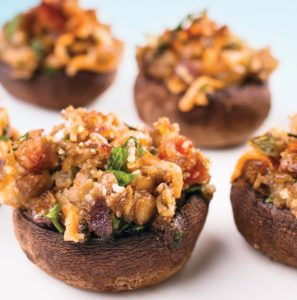 Lentil and Herb Stuffed Mushrooms crop2