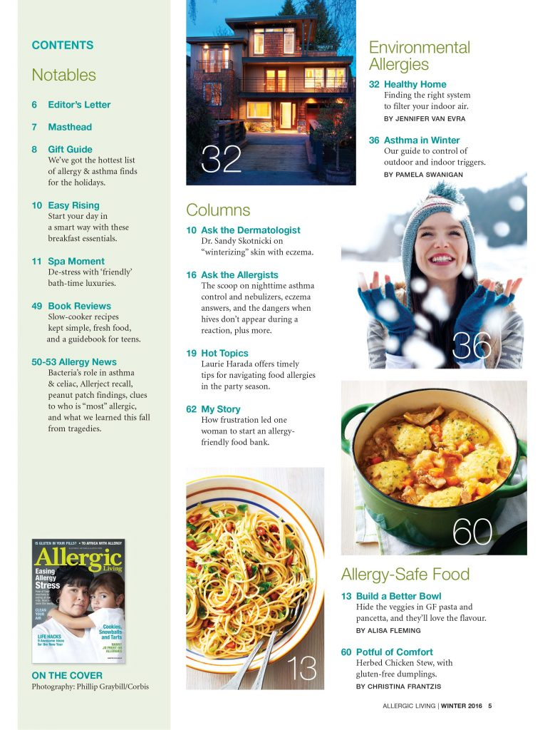 Winter 2016 canadian order allergic living june july 2012 forumfinder Image collections
