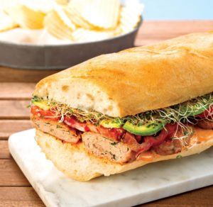 Chicken slider sandwich crop