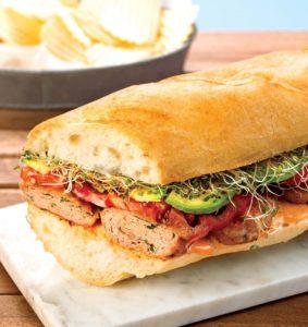 Chicken slider sandwich crop