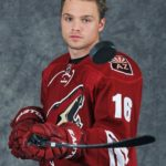 TORONTO,ON - AUGUST 23:  Max Domi of the Phoenix Coyotes poses for an NHLPA - The Players Collection portrait at the Mattamy Sports Center on August 23, 2014 in Toronto, Ontario, Canada. (Photo by Ken Andersen/NHLPA via Getty Images)