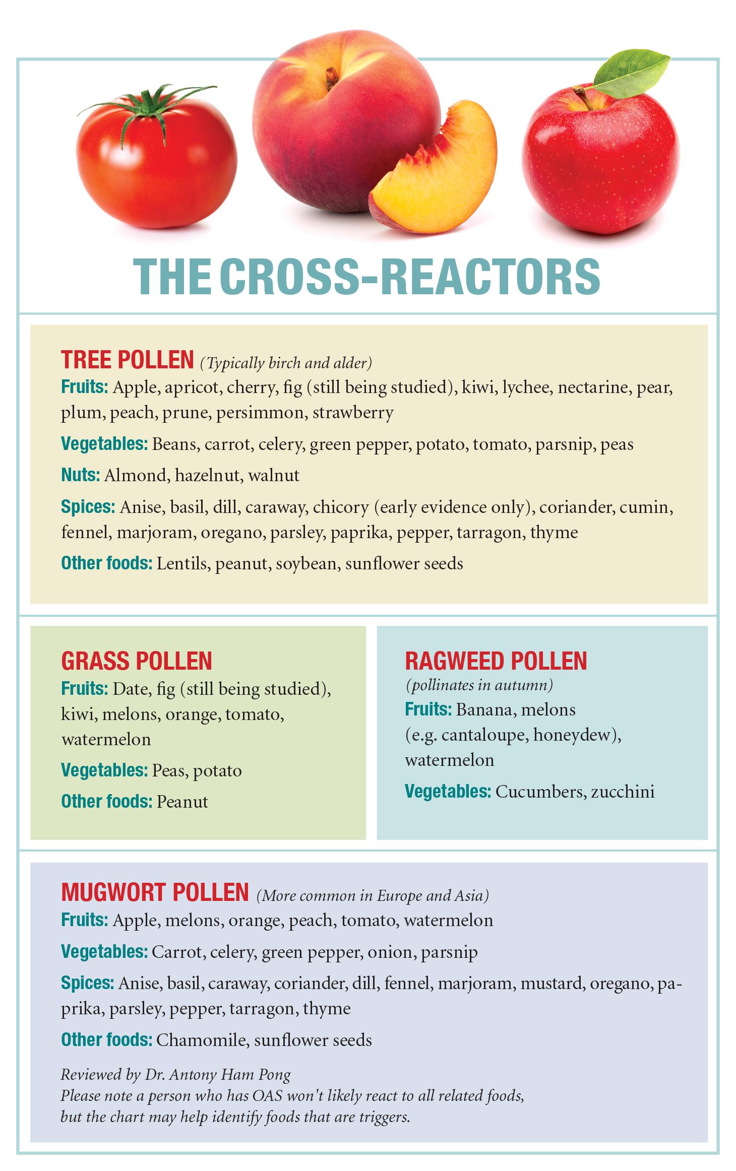 Allergic Living S Chart On Oas Cross Reactors