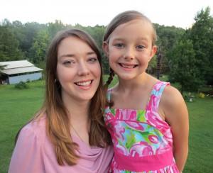 Julie Sane and daughter