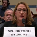 Mylan's Heather Bresch testifying.