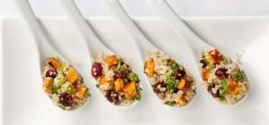 Quinoa Cranberry Squash Spoons
