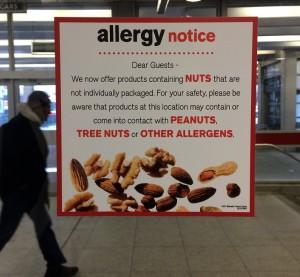 Allergy notice McDonald's