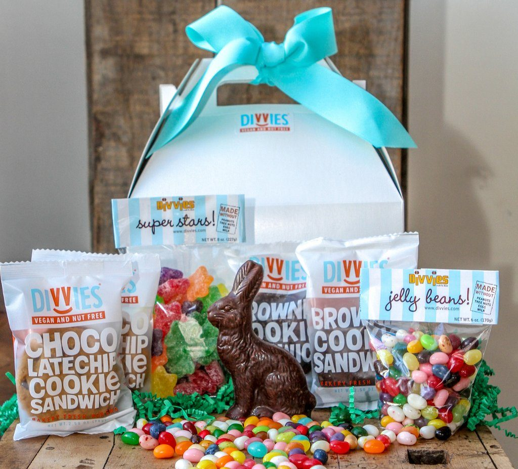 Easter guide 2017 allergy friendly and gluten free sweets treats a variety of gift bags combined with jelly beans chocolate bars and even the bakerys addictive brownie cookie sandwiches free of peanuts tree nuts negle Gallery