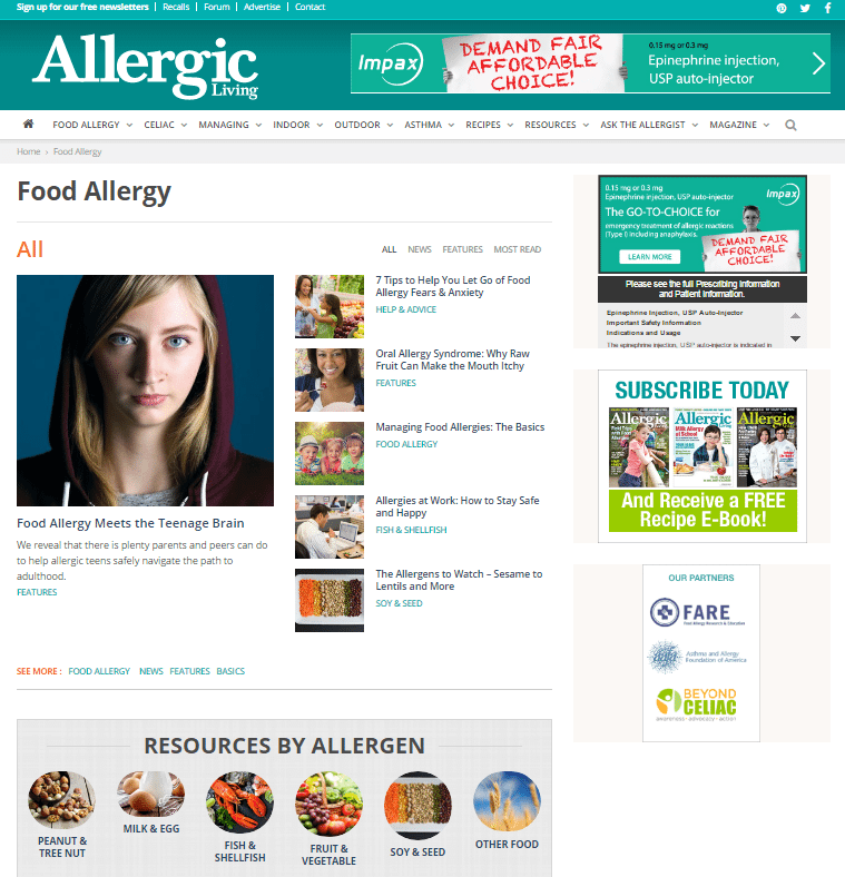 Welcome to allergic livings new website allergic living recipes galore forumfinder Image collections