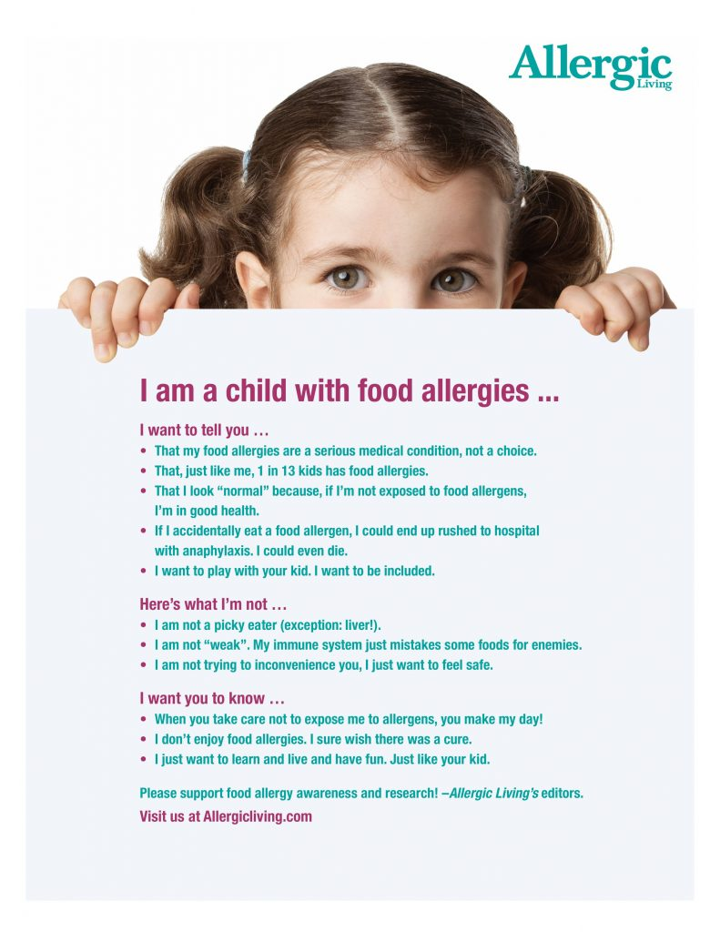 free educational posters for anaphylaxis awareness allergic living