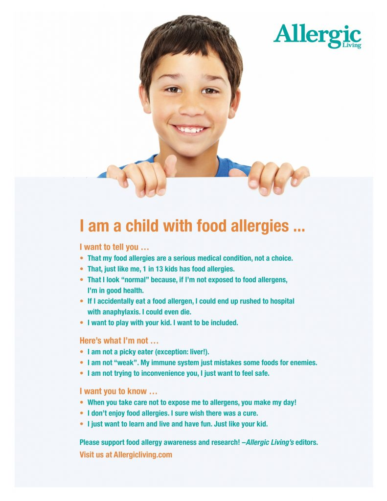 Free Educational Posters for Food Allergy Awareness