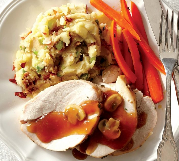 Recipes allergic living turkey breast roast with pancetta infused mashed potatoes forumfinder Images