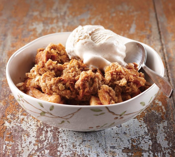 Apple and pear crisp.
