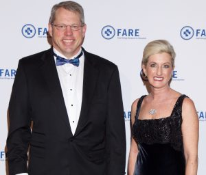 David Bunning, chair of FARE's board of directors, and Lisa Gable, FARE CEO.