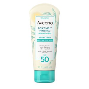 Aveeno: Positively Mineral Sensitive Skin Sunscreen Broad Spectrum SPF 50