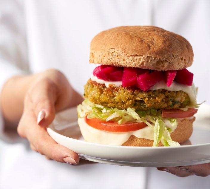 Allergy-Friendly Falafel Burger