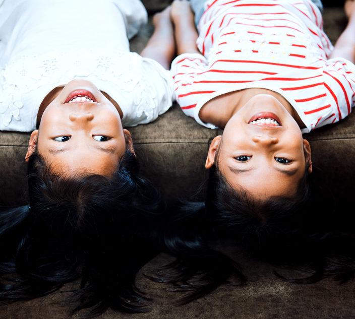 Set of twin girls.