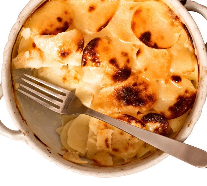 Scalloped butternut and potatoes