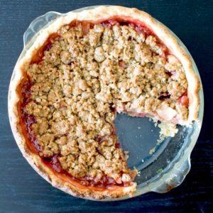 Dairy-Free Cran-Apple Crumble Pie