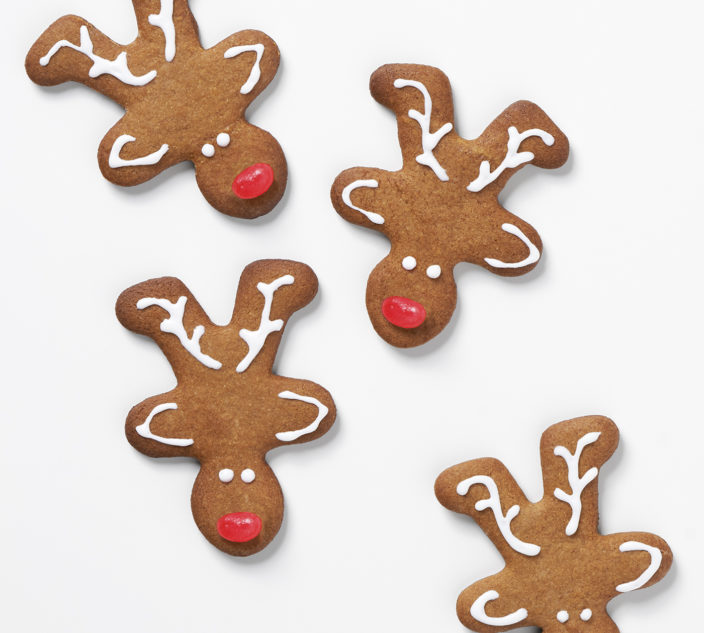 Gingerbread reindeer.